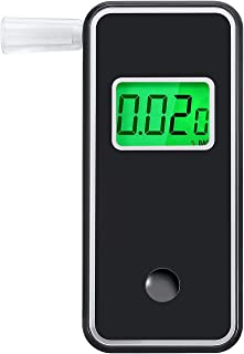 JASTEK Breathalyzer, [Upgraded Version] Professional Portable Digital Breath Alcohol Tester with 5 Mouthpieces -Black