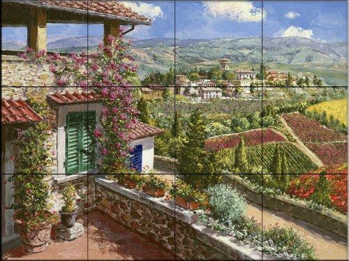 Keramik Fliesen - Castello Di Verrazano - von Sam Park/Soho Editions - Küche Aufkantung Fliesen/Badverkleidung