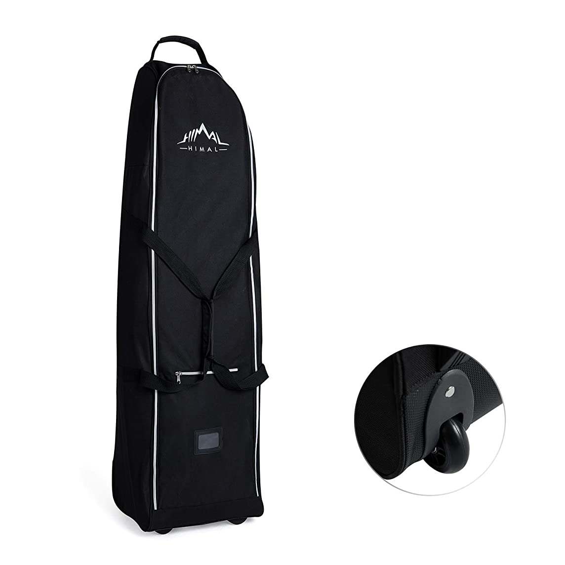 Himal Soft-Sided Golf Travel Bag - Heavy Duty 600D Polyester Oxford Wear-Resistant, Excellent Zipper Universal Size with Wheels
