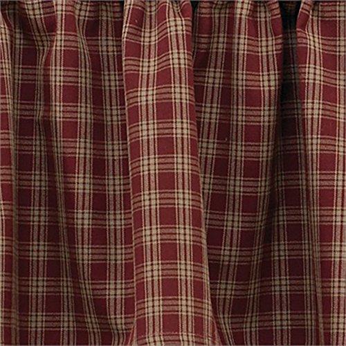 "Sturbridge Wine 72""X36"" Curtain Tiers"