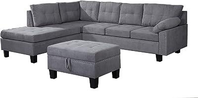 Amazon.com: Meridian Furniture Moda Collection Sectional ...