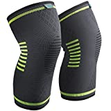 Sable Knee Brace Support Compression Sleeves for Men and Women, 1 Pair...