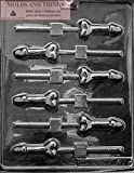SMALL PECKER POP Adult Chocolate Candy Mold with Copyrighted Molding Instructions -SET OF 2