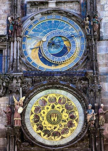 Praag astronomische klok legpuzzel 1000 volwassen puzzels, familiepuzzels, houten puzzels, educatieve spellen, intellectuele uitdagingspuzzels, uitdagingsspellen