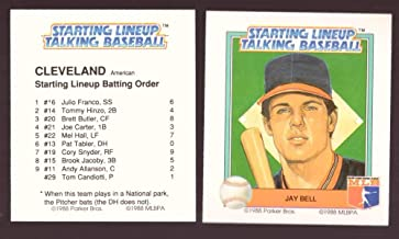 1988 Starting Lineup Talking Baseball CLEVELAND INDIANS Team Set