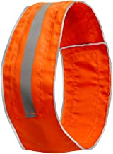 SPOT THE DOG! Easy Fastening Dog Collar, High Visibility Orange, Reflective, Sizes XS-XXL