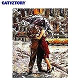 fdgdfgd Classique Romantique Peinture sans Cadre Peinture à l'huile Parapluie Salon décoration de la Maison Toile Peinture à l'huile Cadeau