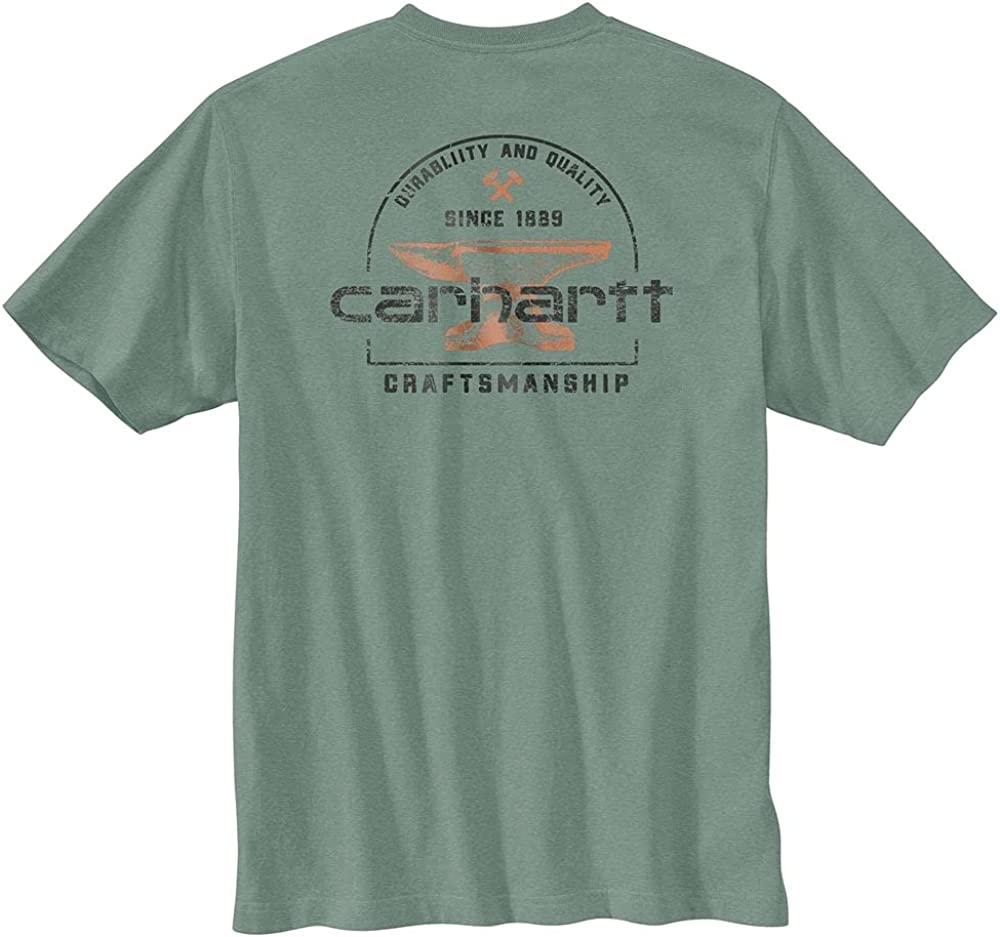 Carhartt Men's 104613 Heavyweight Anvil Graphic Short Sleeve T-Shirt