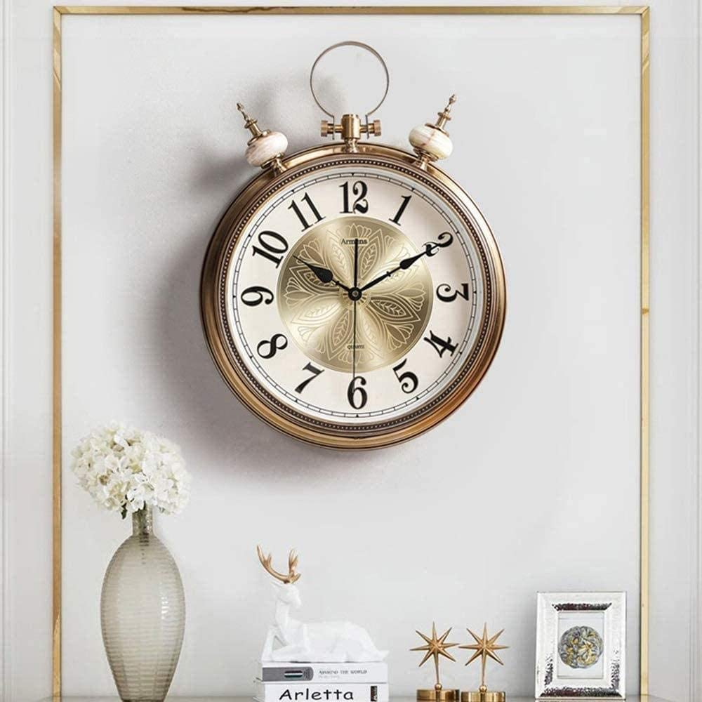 Deluxe Statues Wall Clock Living Room Max 77% OFF Personality Art Decoration