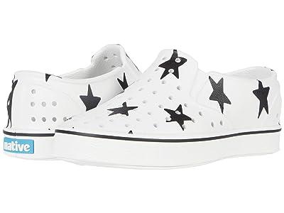 Native Kids Shoes Miles Print (Little Kid/Big Kid) (Shell White/Shell White/Big Star) Kids Shoes
