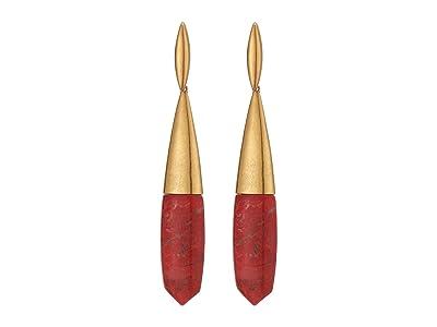 Kendra Scott Freida Linear Earrings (Vintage Gold Burnt Sienna) Earring