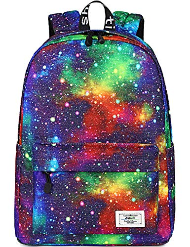 Galaxy Backpack for Girls, Kids, Teens by Mygreen, 15 inch Durable Book Bags for Elementary, Middle School Students