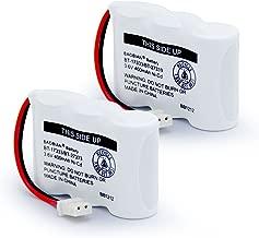BAOBIAN BT17333 BT27333 Cordless Phone Battery Compatible with for Vtech BT-17333 BT-27333 BT17233 BT27233 CS2111 01839 Sanyo CLT3500 GESPCH06 Radio 43-3215 2/3AA 3.6v 400mAh (Pack of 2)