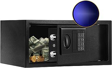 JUGREAT Security Safe Box with Sensor Light,0.7 Cubic Feet Electronic Digital Securit Safe Steel Construction Hidden with Loc