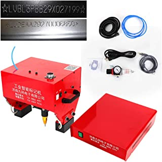 Marking Machine, 110V Pneumatic Portable Dot Peen Marking Machine Metal Lettering Drill Milling Machine Engraver Cutting Machine for VIN Code, Chassis Number Kit, USA STOCK