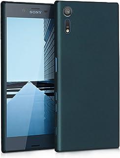 kwmobile Funda para Sony Xperia XZ/XZs - Carcasa Protectora [Dura] para móvil - Case Trasero [Duro] en [petróleo Metalizado]