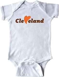 inktastic Cleveland Heart Solid Orange Infant Creeper