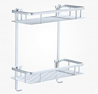 vertice 簡単家庭用収納ホルダー 安定棚 浴室棚 Wc 吸盤 収納ラック 吸盤 壁 浴室 浴室 直角 壁掛け パンチ不要