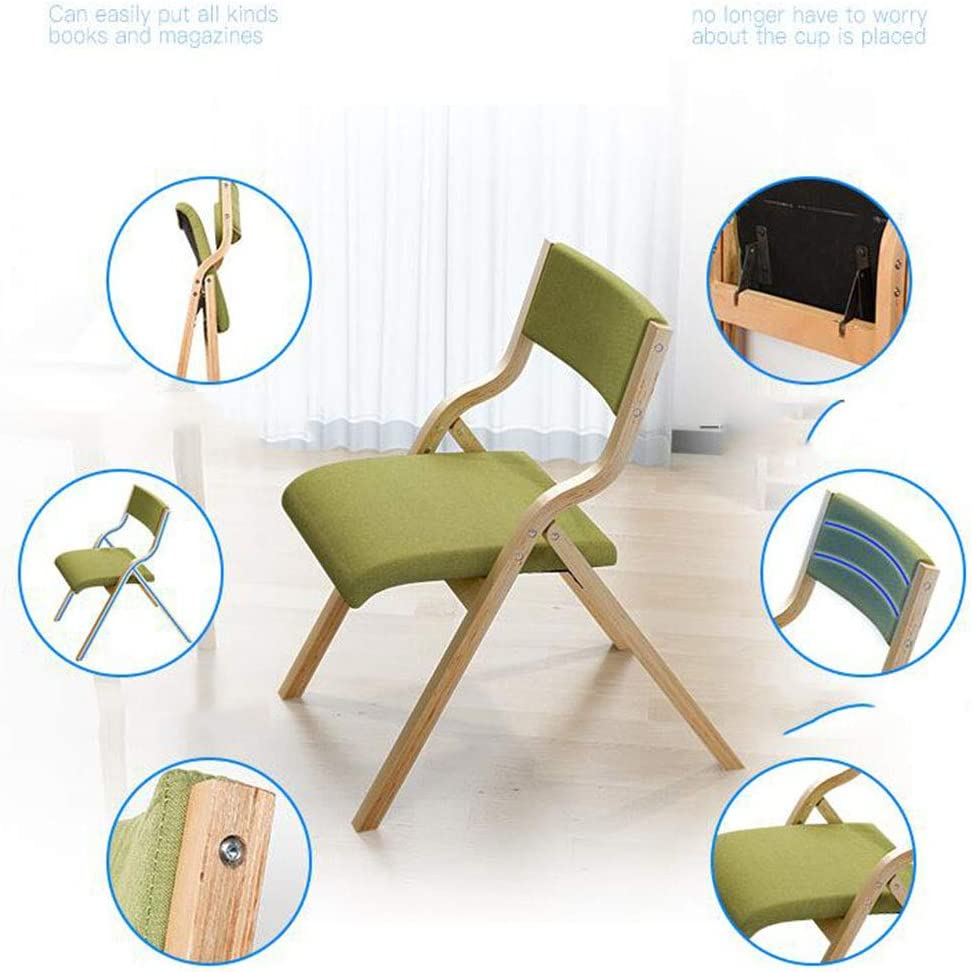 MYMAO Chaises, Chaise Creative Salle à Manger Loisirs Chaise Pliante Chaise d'ordinateur Chaise en Bois Massif Chaise 47 * Dossier 63 * 5 * 73CM,B C