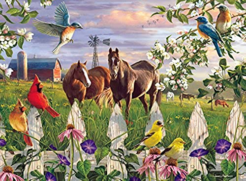 Buffalo Games Evening Meadow by The Hautman Brothers Jigsaw Puzzle (1000 Piece)