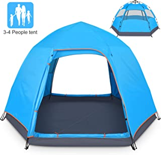 BATTOP 3-4 Person Tent for Camping Double Layer Family...