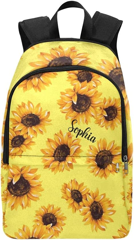 Personalized Yellow Sunflower Very popular Pattern Bag Backpack Daypac Max 83% OFF Laptop