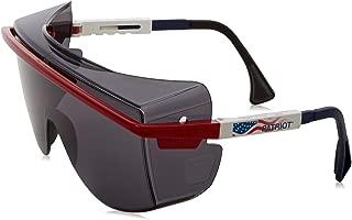 Uvex S2534 Astrospec OTG 3001 Safety Eyewear, Red/White/Blue Frame, Gray Ultra-Dura Hardcoat Lens