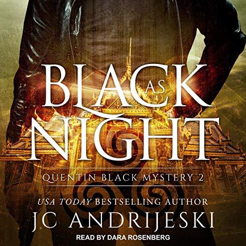 Black as Night audiobook cover art