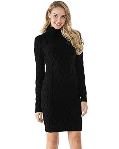 e074f585c0b Turtleneck Sweater Dresses  Amazon.com