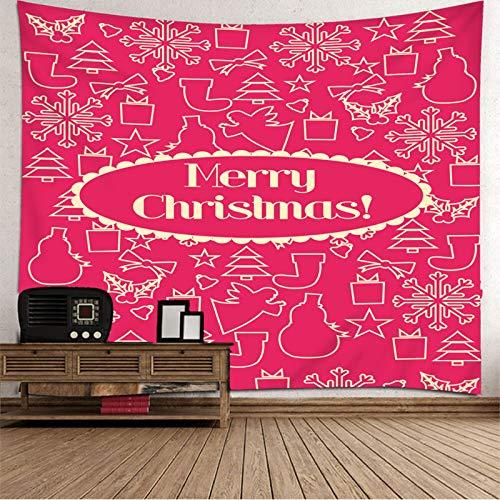 Tapiz de Navidad para colgar en la pared, colcha de mesa, felices Navidades, tapices para dormitorio de 192 x 192 cm