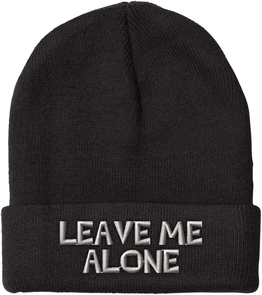 Speedy Pros Beanies for Men NEW before selling mart ☆ Leave Winter Me Embroidery Alone Hat