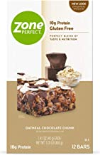 ZonePerfect Nutrition Snack Bars, High Protein Energy Bars, Oatmeal Chocolate Chunk, 1.41 Ounce Bar, 12 Count