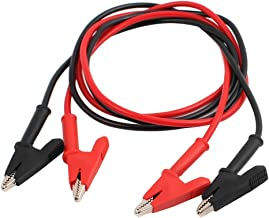 uxcell 2 Pcs Double-Headed Alligator Clip Wire Test Line High-Voltage Silicone Leads