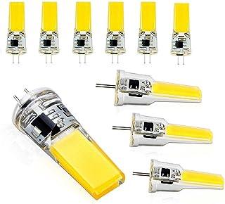 TINS G4 LED Bombilla,G4 AC/DC 12V 6W 550LM MAZORCA SMD Lámpara de Maíz Lámpara de Base Lámpara de Luz LED Alternativa de La Lámpara Halógena Para Luces Colgantes 6500K Cold White,Pack de 10