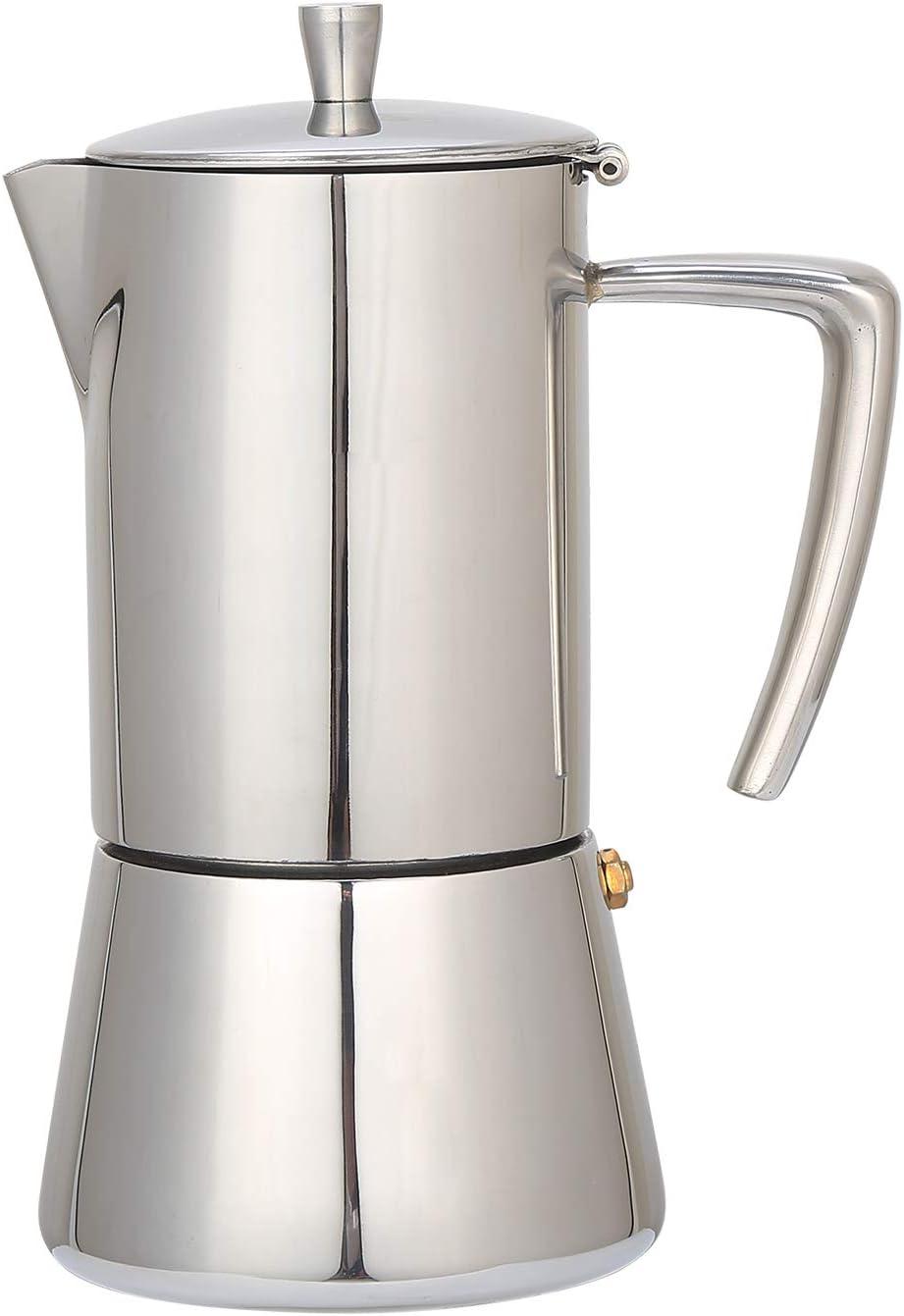 Luxurious Italian Coffee Machine Maker Stainless Steel Espresso Maker Full Bodied Coffee Renewed Espresso Pot For 5-6 Cups bonVIVO Intenca Stovetop Espresso Maker 10 oz Moka Pot Copper Chrome Finish