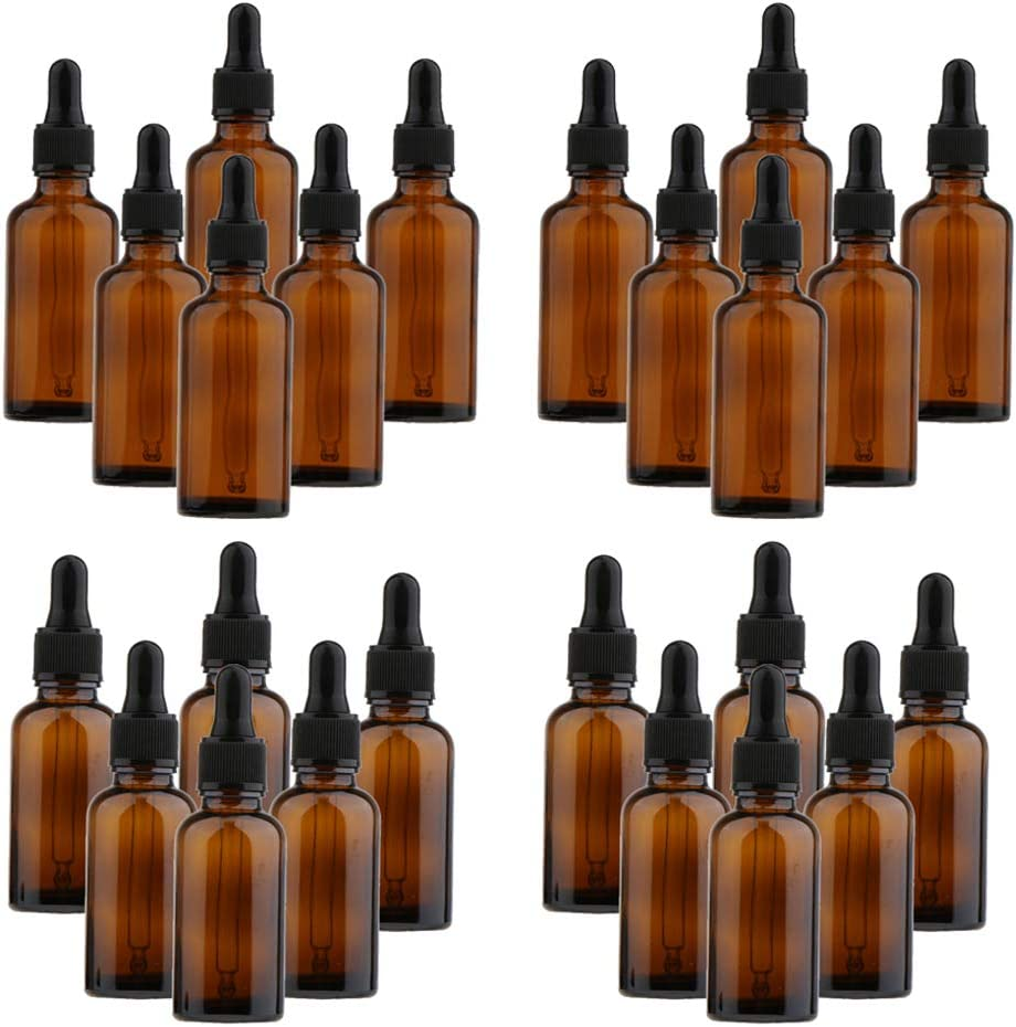 Amagogo 24 Max 81% OFF Pcs Glass Refill Eye Essential Pe Dropper Be super welcome Oil Bottles