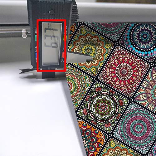 QIYI Floor Comfort Mats 2 Pieces Kitchen Rugs PVC Leather Waterproof Oil Proof Runner Rug Non Skid Standing Mat Set Anti Fatigue Doormat 17
