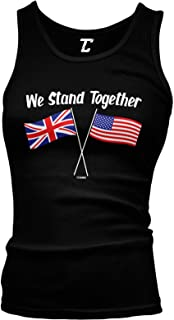 We Stand Together - USA & UK Union Jack Flags Juniors Tank Top