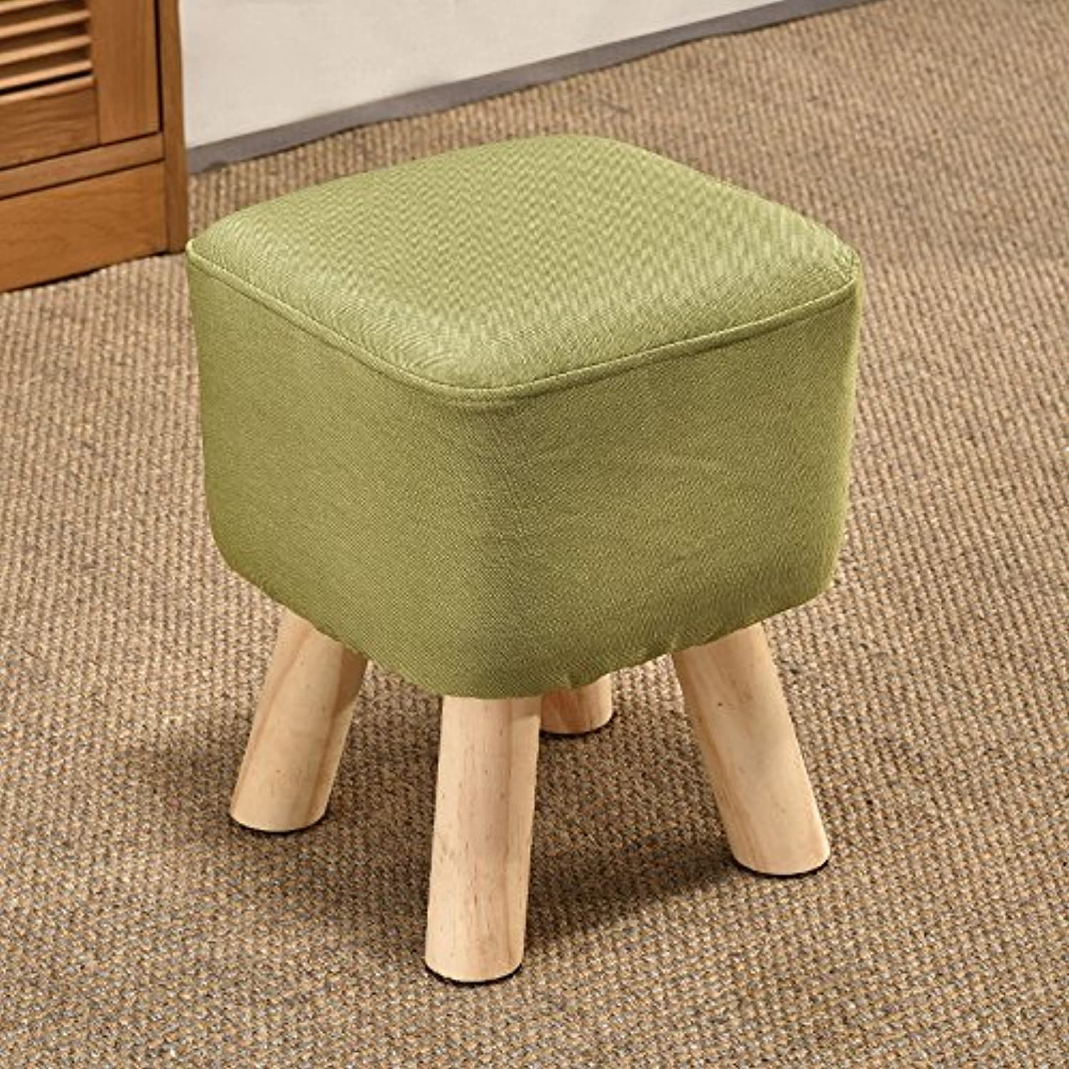 Solid Wood Stool Creative Living Room shoes Bench Fashion Fabric Sofa Stool Wooden Bench (color   C)