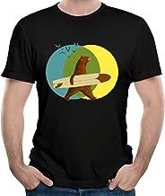 Skating Bear And The Sun Mens T-Shirt