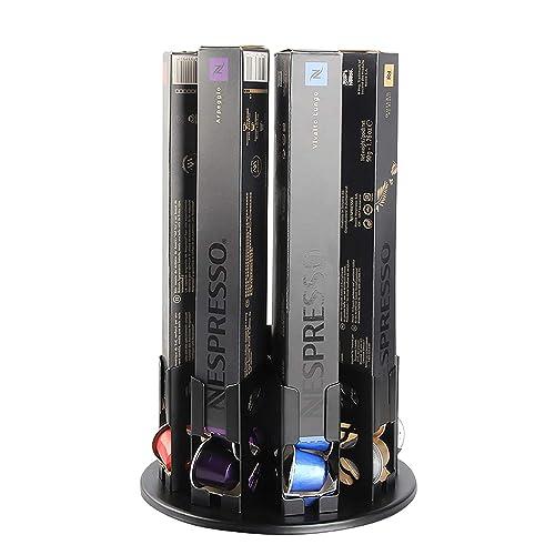 Flagship Nespresso Originaline Coffee Pod Holder 360 Degree Revolving Capsules Rack (80 Pods)