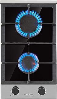 Klarstein Alchemist-plaque de cuisson à gaz, autonome, encastrable, brûleur alu, gaz naturel/butane, inox, arrêt auto, por...