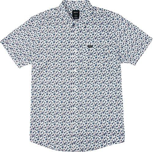 RVCA Herren Porcelain Short Sleeve Woven Shirt Button Down Hemd, Antik/Weiß, Klein