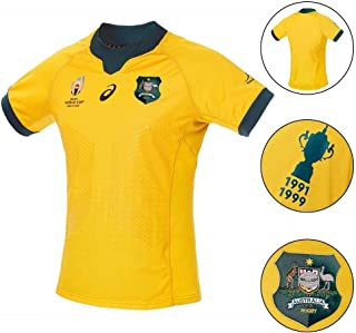 Breathable Rugby Shirt Australia World Cups(RWC) 2019 Home Away Supporter T- Shirt Lightweight and Quick-Drying Polo Shirt Fans Jersey Sports and Fitness Short Sleeve