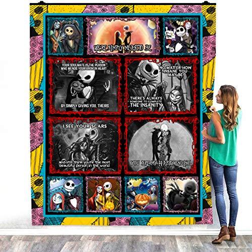 Zoko Apparel We're Simply Meant To Be Warm - Manta de forro polar para decorar dormitorios (127 x 152 cm)