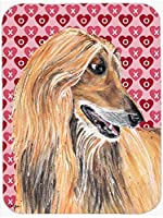 Caroline's Treasures SC9503MP Afghan Hound Hearts Love and Valentine's Day Mouse Pad, Hot Pad or Trivet, Large, Multicolor [並行輸入品]