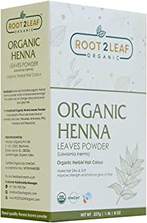 Root2leaf organic Henna Powder for hair 227gm