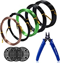 LISHINE 5 Rolls Tree Training Wires for Bonsai Tree 2.0 mm Aluminum Bonsai Training Wire with Bonsai Wire Cutter 1.5 mm 2.5 mm Black Total 164 Feet 5 Sizes 3.0 mm 1.0 mm
