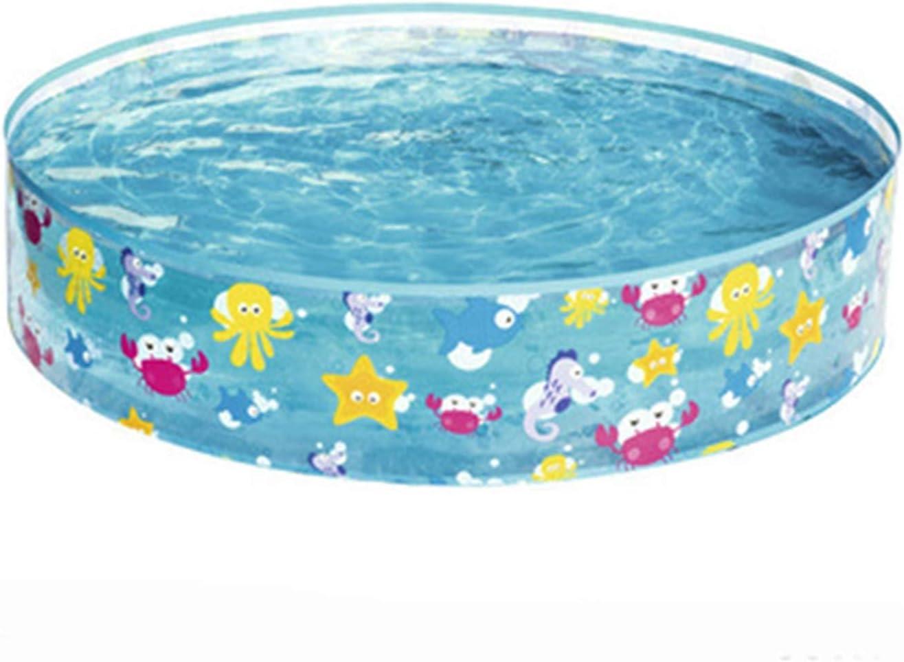 Piscina de plástico Duro Transparente, Piscina para niños, Piscina Familiar, Estanque de Peces, bañarse sin inflación
