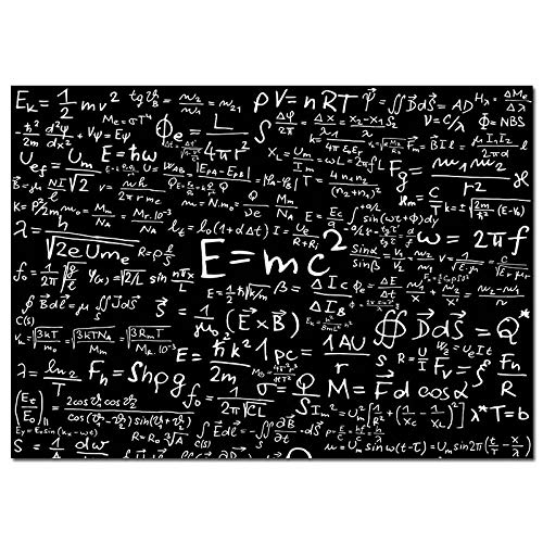 E Mc2 Mass Formula Letter Canvas Prints Painting Mathematical Formula Black White Wall Pictures Education Poster Classroom Home Decor 40x60cm No Frame